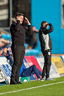 Fleetwood Town manager Joey Barton upset during the EFL Sky Bet League 1 match between Gillingham and Fleetwood Town at the MEMS Priestfield Stadium, Gillingham, England on 3 November 2018.<br /> Photo Martin Cole