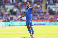 Cardiff City midfielder Leandro Bacuna (7) in action during the EFL Sky Bet Championship match between Cardiff City and Bristol City at the Cardiff City Stadium, Cardiff, Wales on 28 August 2021.