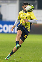 Adrian Apostol of Romania during their  rugby test match between Romania and USA, on National Stadium Arc de Triomphe in Bucharest, November 8, 2014.  Romania lose the match against USA, final score 17-27.