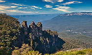 A view of the Three Sisters at the Blue Mountains.