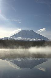 Mt. Adams from Takhlakh Lake, Gifford Pinchot National Forest, Washington, US