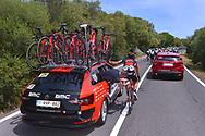 Francisco Jose VENTOSO (ESP), Mechanical Problem, Team BMC Racing Team (USA), during the 100th Tour of Italy 2017, Giro d'Italia, Stage 1, Alghero - Olbia (206km), on May 5, in Sardegna, Italy - Photo Tim De Waele / ProSportsImages / DPPI
