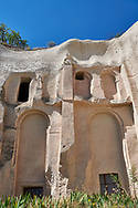 Pictures & images of the extreior of Aynali Kilise (Church) a cave church complex, iconoclastic period (725-842), near Goreme, Cappadocia, Nevsehir, Turkey .<br /> <br /> If you prefer to buy from our ALAMY PHOTO LIBRARY  Collection visit : https://www.alamy.com/portfolio/paul-williams-funkystock/cappadociaturkey.html (TIP refine search - enter Aynali Kilise a into the LOWER search box)<br /> <br /> Visit our TURKEY PHOTO COLLECTIONS for more photos to download or buy as wall art prints https://funkystock.photoshelter.com/gallery-collection/3f-Pictures-of-Turkey-Turkey-Photos-Images-Fotos/C0000U.hJWkZxAbg