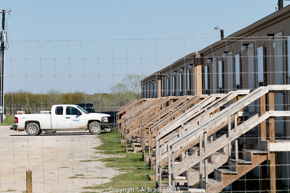 Man Camps Near Cuero, Oil and Gas Fracking, Eagle Ford Shale Area, Texas