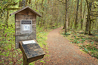 Hiker register kiosk at Baker Lake Trailhead, North Cascades Washington