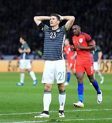 Germany's Mario Gomez reacts after missing a chance - Mandatory by-line: Matt McNulty/JMP - 26/03/2016 - FOOTBALL - Olympiastadion - Berlin, Germany - Germany v England - International Friendly