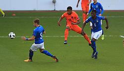 Netherlands U17's Jurren Maduro scores their first goal
