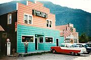 CS00862-09. 'Dam Town Tavern' saloon in Hungry Horse, Montana, September 1956