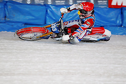 13.03.2016, Assen, BEL, FIM Eisspeedway Gladiators, Assen, im Bild Dmitry Khomitsevich (RUS) // during the Astana Expo FIM Ice Speedway Gladiators World Championship in Assen, Belgium on 2016/03/13. EXPA Pictures © 2016, PhotoCredit: EXPA/ Eibner-Pressefoto/ Stiefel<br /> <br /> *****ATTENTION - OUT of GER*****
