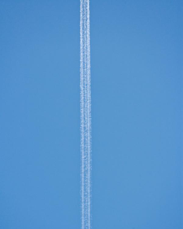 Jet stream and blue sky