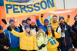 March 16, 2019 - –Stersund, Sweden - 190316 Fans of Linn Persson celebrate after  the Women's 4x6 km Relay during the IBU World Championships Biathlon on March 16, 2019 in Östersund..Photo: Johan Axelsson / BILDBYRÃ…N / Cop 245 (Credit Image: © Johan Axelsson/Bildbyran via ZUMA Press)