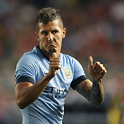 Stevan Jovetic, Manchester City, in action during the Manchester City Vs Liverpool FC Guinness International Champions Cup match at Yankee Stadium, The Bronx, New York, USA. 30th July 2014. Photo Tim Clayton