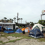 """A general overview of """"Camp Romney"""" or Romneyville,  during the Republican National Convention in Tampa, Fla. on Wednesday, August 29, 2012. (AP Photo/Alex Menendez)"""