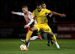 Jermaine Easter of Bristol Rovers battles with Dean Parrett of Stevenage - Mandatory by-line: Robbie Stephenson/JMP - 19/04/2016 - FOOTBALL - Lamex Stadium - Stevenage, England - Stevenage v Bristol Rovers - Sky Bet League Two