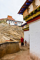 The Kumbum Stupa (the largest stupa in Tibet), Palcho Monastery, Gyangze, Tibet (Xizang), China.