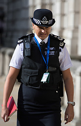 Cabinet Office, London, June 4th 2017. Assistant Commissioner Lucy D'Orsi arrives at the Cabinet Office in Whitehall for the emergency COBRA Committee meeting following the London Bridge and Borough Markets terrorist incident which claimed the lives of six members of the public and injured over twenty more.