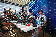 Press conference, Christopher Froome (GBR - Team Sky) and Geraint Thomas (GBR - Team Sky) during the 105th Tour de France 2018, 2nd Rest day in Carcassonne, France, on July 23th, 2018 - Photo George Deswijzen / Pro Shots / ProSportsImages / DPPI