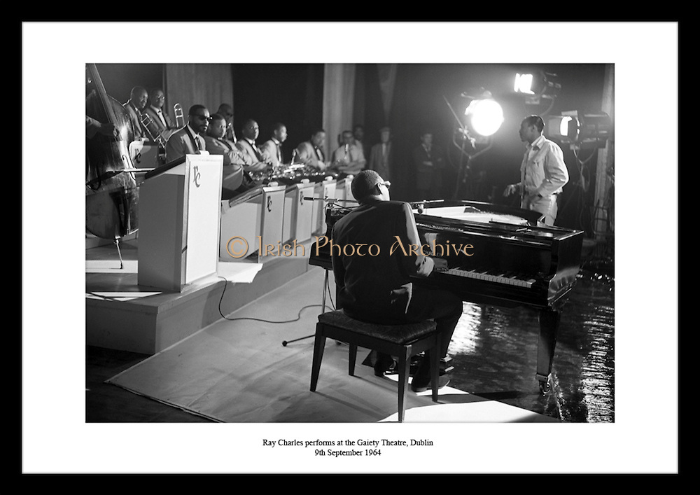 Ray Charles performs at the Gaiety Theatre, Dublin<br />