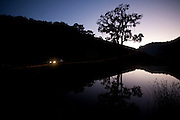 Domingos Martins_ES, Brasil...Lago ao amanhecer na estrada historica denominada Rota Imperial da Estrada Real, antiga estrada Dom Pedro de Alcantra...A lake at daybreakk in the Ancient Rota Imperial, know as Dom Pedro de Alcantara Road...Foto: LEO DRUMOND / NITRO