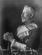 Prince Heinrich of Prussia (1862-1929), 1913, a younger brother of Wilhelm II, a career officer in the Imperial German Navy, rising to the rank of Grand Admiral. Half-length portrait facing left, wearing uniform, orders and decorations.