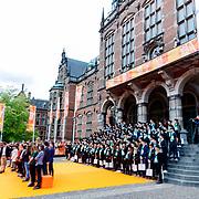 NLD/Groningen/20180427 - Koningsdag Groningen 2018, universiteit Groningen geven les in nano technologie