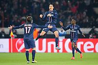 joie de Zlatan Ibrahimovic (Paris) apres son but