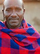 Maasai tribesman, Oyaratta village near Maasai Mara National Reserve, Kenya