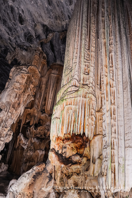 The Cango Caves are located at the foothills of the Swartberg range near the town of Oudtshoorn, South Africa.