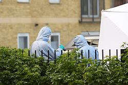© Licensed to London News Pictures, 04_02_2018_ London, UK, Flowers at the scene of the Murder in Barking. Photo credit: Steve Poston/LNP