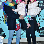Ronnie Wood, Sally Wood, Gracie Jane Wood and Alice Rose Wood arrivers Skate at Somerset House with Fortnum & Mason Launch party, London, Somerset House, 12 November 2019, London, UK.