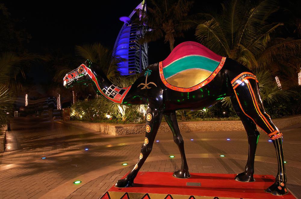 Dromedary camel art piece, Camelus dromedarius, Dubai