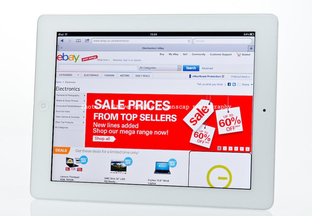 Apple Ipad showing Ebay Auction Website  - Jan 2013.