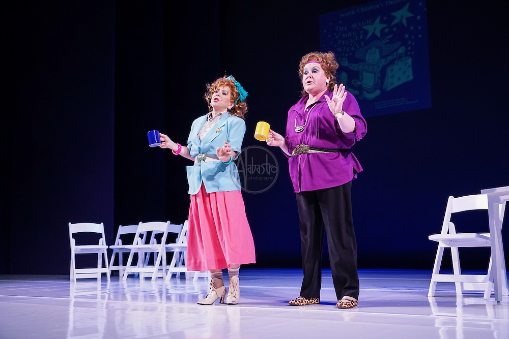 Karen Kay Cody and Vickielee Wohlbach at Seattle Children's Theatre Gala honoring Linda Hartzell. Photo by Alabastro Photography.