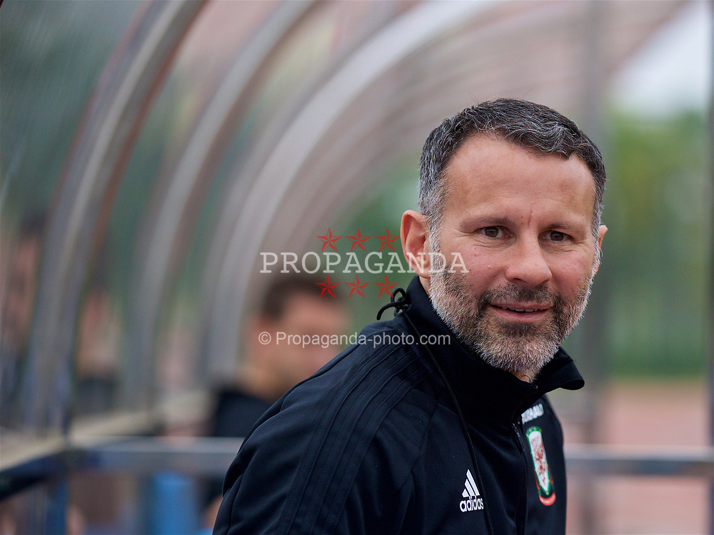 NANNING, CHINA - Sunday, March 25, 2018: Wales' new manager Ryan Giggs during a training session at the Guangxi Sports Centre ahead of the 2018 Gree China Cup International Football Championship final match against Uruguay. (Pic by David Rawcliffe/Propaganda)