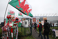 Wales fans arrive ahead of the match. Wales v Moldova , FIFA World Cup qualifier at the Cardiff city Stadium in Cardiff on Monday 5th Sept 2016. pic by Andrew Orchard, Andrew Orchard sports photography