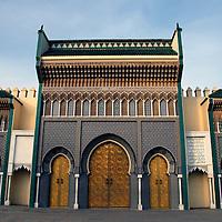 Africa, Morocco, Fes. Royal Palace of Fez (Dar el Makhzen).