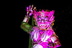 Ogoh-Ogoh at Night, Ubud, Bali