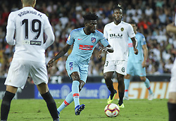 August 20, 2018 - Thomas of Atletico de Madrid in action during the spanish league, La Liga, football match between ValenciaCF and Atletico de Madrid on August 20, 2018 at Mestalla stadium in Valencia, Spain. (Credit Image: © AFP7 via ZUMA Wire)