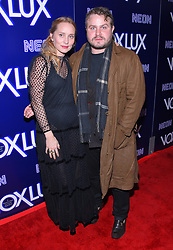 December 5, 2018 - Hollywood, California, U.S. - Mona Lerche and Brady Corbet arrives for the premiere of the film 'Vox Lux' at the Arclight theater. (Credit Image: © Lisa O'Connor/ZUMA Wire)