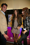 HARRY SOAMES,  CHLOE PRIDDAM AND EMILY BYRON, Gas new concept Flagship store opening. Duke of York Sq. London. 9 May 2007.  -DO NOT ARCHIVE-© Copyright Photograph by Dafydd Jones. 248 Clapham Rd. London SW9 0PZ. Tel 0207 820 0771. www.dafjones.com.
