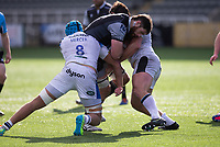 Rugby Union - 2020 / 2021 Gallagher Premiership - Round 13 - Newcastle Falcons vs Bath - Kingston Park<br /> <br /> Greg Peterson of Newcastle Falcons is tackled by Zach Mercer of Bath<br /> <br /> Credit : COLORSPORT/BRUCE WHITE