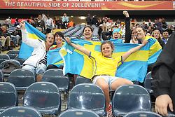 13.07.2011, Commerzbank Arena, Frankfurt, GER, FIFA Women Worldcup 2011, Halbfinale,  Japan (JPN) vs. Schweden (SWE), im Bild Schwedische Fans.. // during the FIFA Women´s Worldcup 2011, Semifinal, Japan vs Sweden on 2011/07/13, Commerzbank Arena, Frankfurt, Germany.   EXPA Pictures © 2011, PhotoCredit: EXPA/ nph/  Mueller       ****** out of GER / CRO  / BEL ******