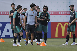 June 28, 2018 - Na - Kratovo, 06/28/2018 - The national soccer team trained this afternoon at the Saturn training center in Russia, where they are preparing for the first knockout game against Uruguay. Gonçalo Guedes, Gelson and Bruno Fernandes  (Credit Image: © Atlantico Press via ZUMA Wire)