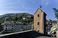 Tarn river Canyon Pont de Montvert village    France