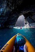 Sea Arch, Kayaking, Napali Coast, Kauai, Hawaii