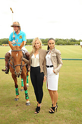 Asprey World Class Cup polo held at Hurtwood Park Polo Club, Ewhurst, Surrey on 17th July 2010.<br /> Picture shows:- Left to right, Elizabeth Minett, Kenney Jones and Maria Critchell