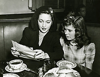 1941 Dorothy Lamour & Betty Brewer at The Brown Derby