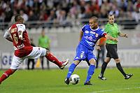 FOOTBALL - FRENCH CHAMPIONSHIP 2010/2011 - L2 - STADE DE REIMS v EVIAN TG - 20/05/2011 - PHOTO JEAN MARIE HERVIO / DPPI - GOAL CEDRIC CAMBON (ETG)