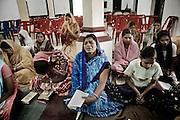 Christian refugees from Kandmahal district during the prayer at Peyton sahi relief comittee in Orissa's capital Bhubaneswar. Nov. 04, 2008.