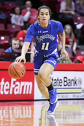 NORMAL, IL - February 10: Krystal Rice during a college women's basketball Play4Kay game between the ISU Redbirds and the Indiana State Sycamores on February 10 2019 at Redbird Arena in Normal, IL. (Photo by Alan Look)